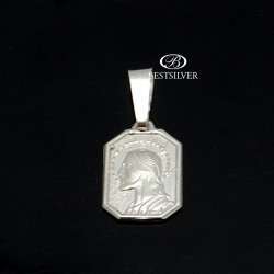 Medalik srebrny z Panem Jezusem Srebro pr 925