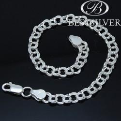Bransoletka srebrna bismark 19cm szer. 5,5mm srebro