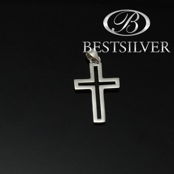ciekawy Krzyżyk srebrny męski Srebro próby 925
