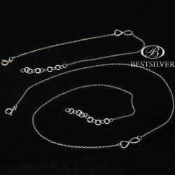 Komplet srebrny nieskończoność damski ze srebra Infinity SREBRO