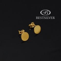 Kolczyki srebrne złocone do kompletu KÓŁKA