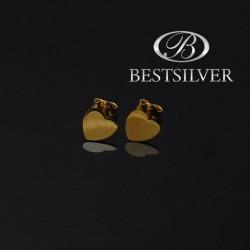 Kolczyki srebrne celebrytki złocone Serce