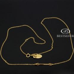 Naszyjnik Srebrny złocony Strzałka Srebro 925