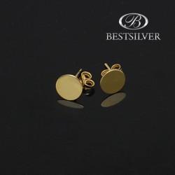 Kolczyki złote kółka pełne celebrytki 8KT damskie