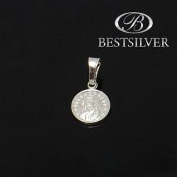 Medalik Srebrny z matką boską Srebro 925 komunia chrzciny bierzmowanie