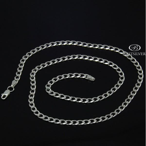 Łańcuszek Srebrny pancerka męskie 50cm 4,2mm Srebro 925
