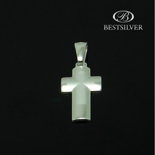Modny krzyżyk Srebrny gładki dla męczyzny Srebro 925