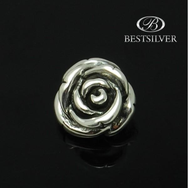 Mniejsza Zawieszka Róża srebrna oksydowana