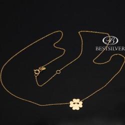 Złoty naszyjnik Celebrytka z koniczynką Złoto próby 333