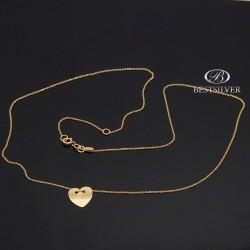 Naszyjnik Złoty z Sercem Celebrytka złoto 8KT