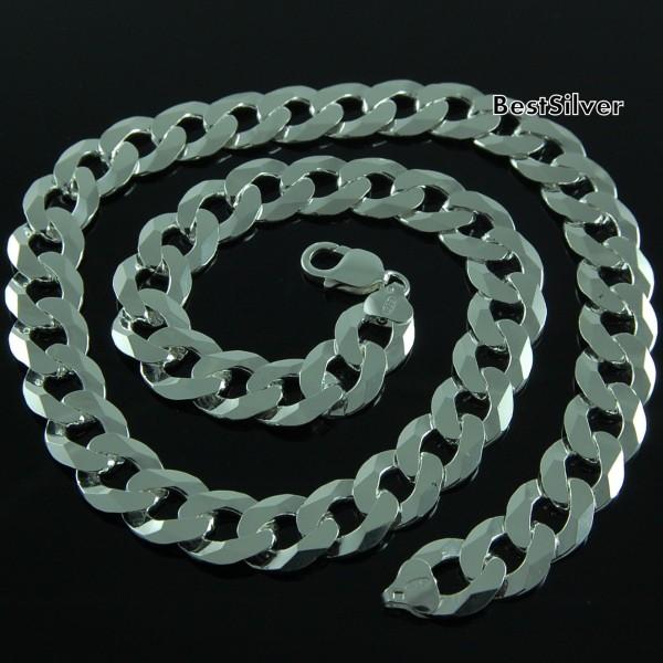 Łańcuch Męski Srebrny Pancerka Masywny SREBRO dla Mężczyzny 60cm