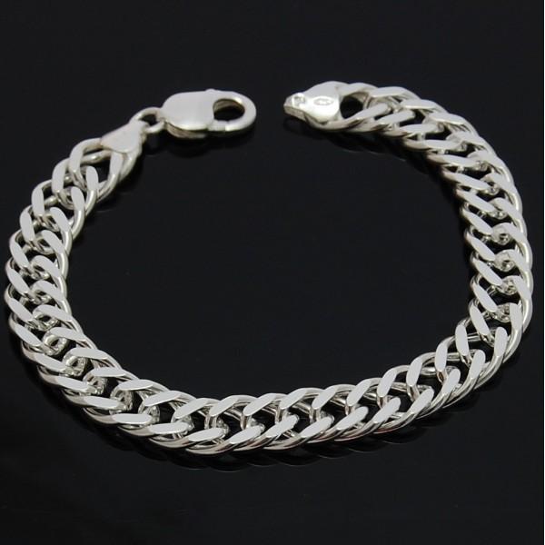 Bransoletka ze srebra Rombo 22cm 10mm Srebro