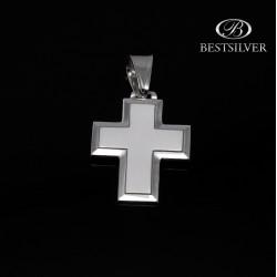 Duży i fajny krzyżyk srebrny prosty i widoczny Srebro 925