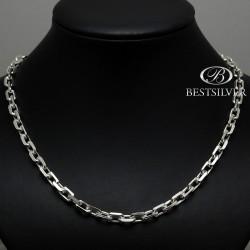 Męski łańcuch ANKIER w całości ze srebra 55cm 7,5mm