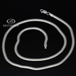 Naszyjnik Srebrny ogon węża 45cm żmijka 3,3mm Srebro