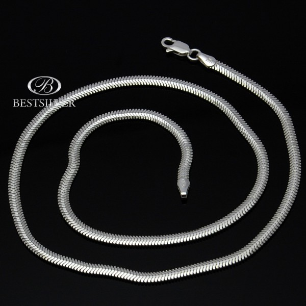 Naszyjnik Srebrny ogon węża 50cm żmijka 3,3mm Srebro