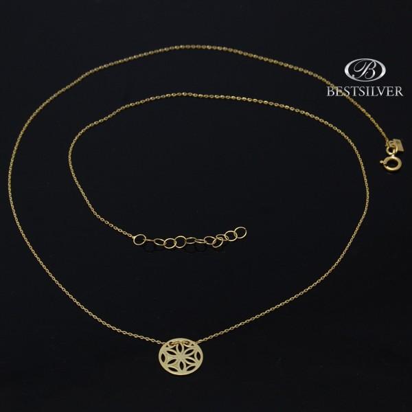Naszyjnik Złoty z kółkiem ażurowym celebrytka złoto 8kt