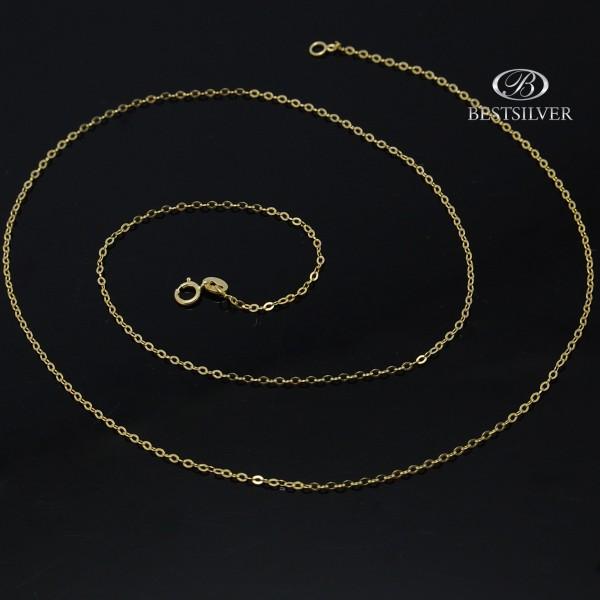 Łańcuszek złoty rolo 45cm damski 1mm złoto 8kt
