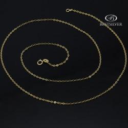 Łańcuszek złoty rolo 50cm damski 1mm złoto 8kt