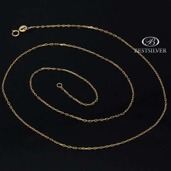 Łańcuszek ze złota ankier 50cm 1mm 8kt
