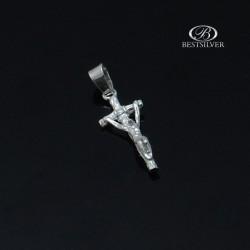 Krzyżyk srebrny z P. Jezusem Krzyżyk Jana Pawła II