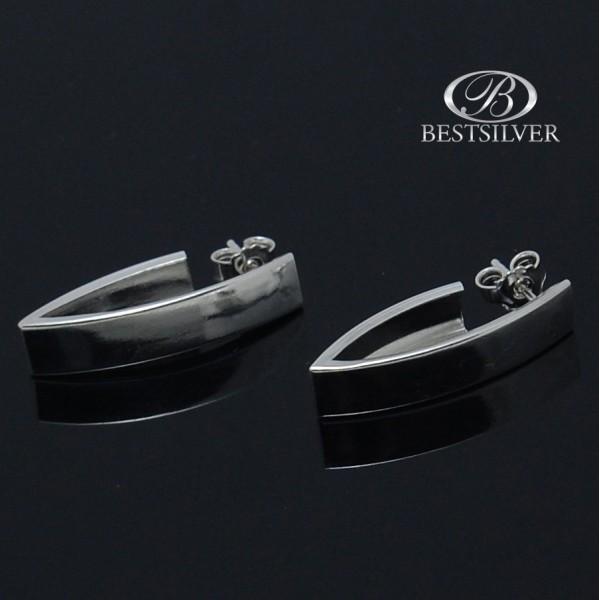 Modne Kolczyki srebrne na sztyfty przy uchu Srebro 925