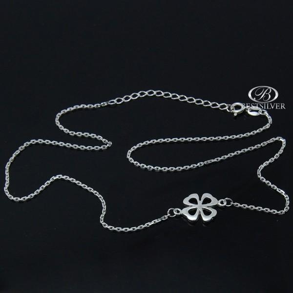 Naszyjnik Srebrny z koniczyną mocna celebrytka Srebro