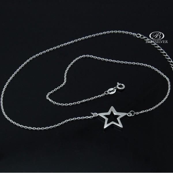 Srebrny Naszyjnik z gwiazdą trwała celebrytka Srebro 925