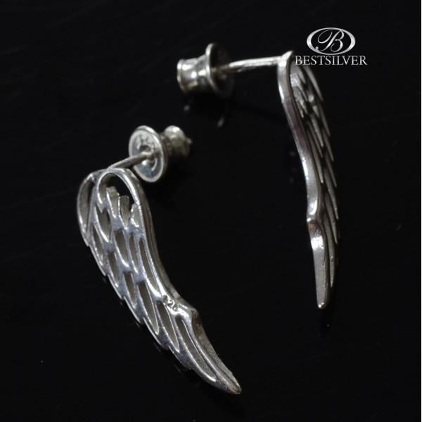 Kolczyki Srebrne skrzydła anioła na sztyfty Srebro 925