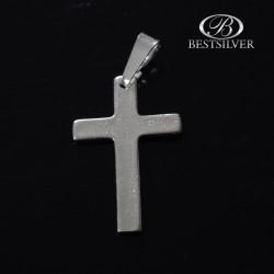 Krzyżyk srebrny gładki prosty średni Srebro 925