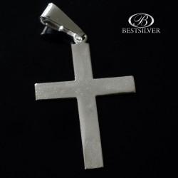 Krzyżyk srebrny gładki prosty duży Srebro 925