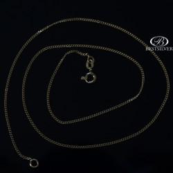 Złoty łańcuszek pancerka 45cm próba 750 20 karatów