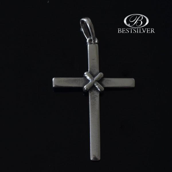 Prosty i widoczny Krzyż Srebrny Srebro pr.925