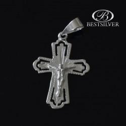 Krzyżyk Srebrny z Panem Jezusem fajny i ciekawy kr002