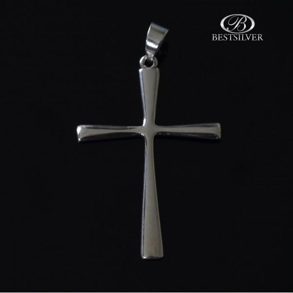 Krzyżyk Srebrny Prosty i Gładki Srebro 925 kr003
