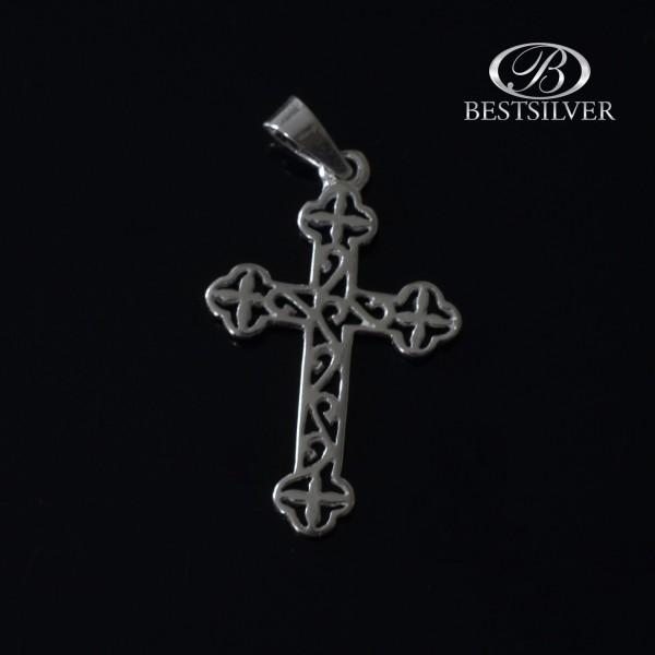 Piękny krzyżyk srebrny ażurowy Srebro 925 kr005