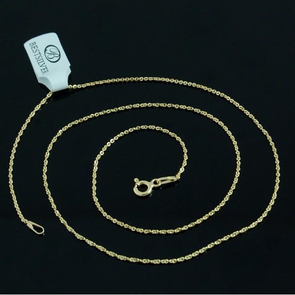 Delikatny złocony łańcuszek 40 cm srebro pozłacane