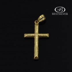 Złoty krzyżyk męski prosty i widoczny Złoto pr. 333