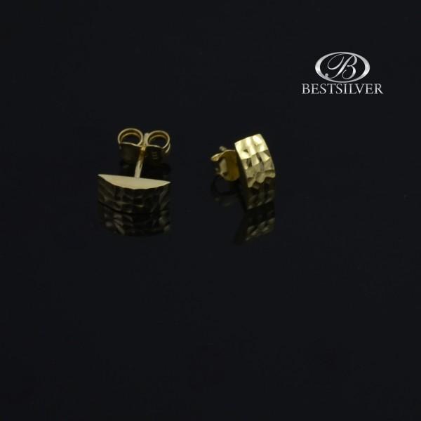 Kolczyki złote na sztyfty ciekawy wzór, Złoto 333