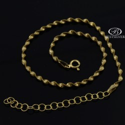 Bransoletka srebrna Twister złocona na noge Srebro 925