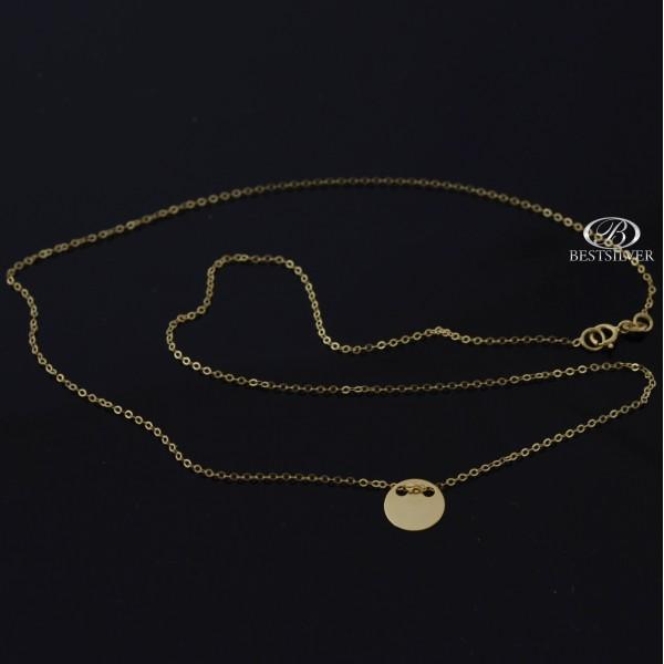 Złoty naszyjnik z pełnym kółkiem 42cm Złoto 8kt 333