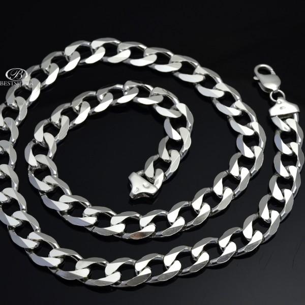 Masywny łańcuszek srebrny Pancerka pełny 60cm 11mm Srebro