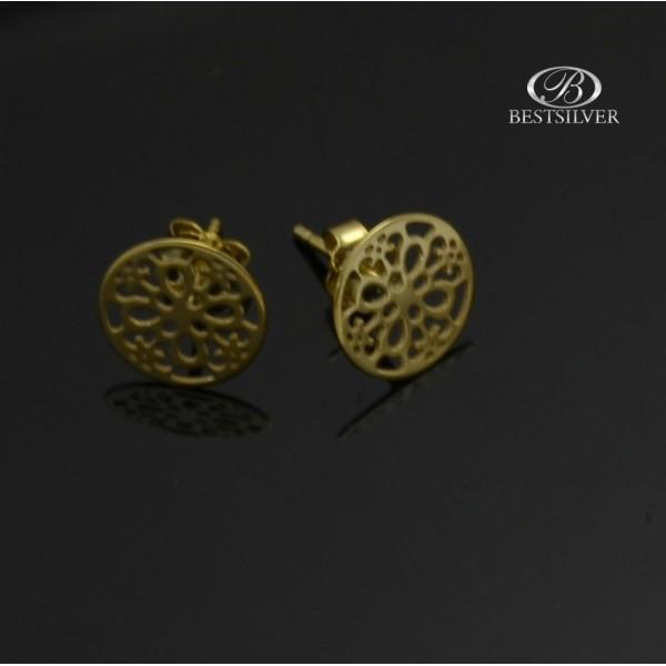 Kolczyki złote kółka ażurowe Złoto pr.333 8kt