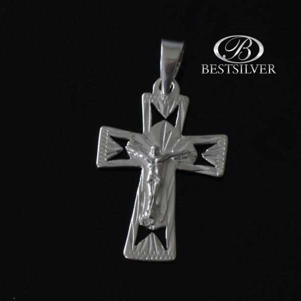 Fajny męski krzyżyk srebrnt z Panem Jezusem Srebro 925