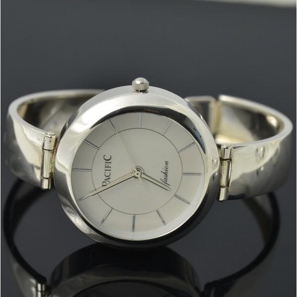 Zegarek Damski srebrny okrągły z dużą tarczą Pacific Srebro pr.925