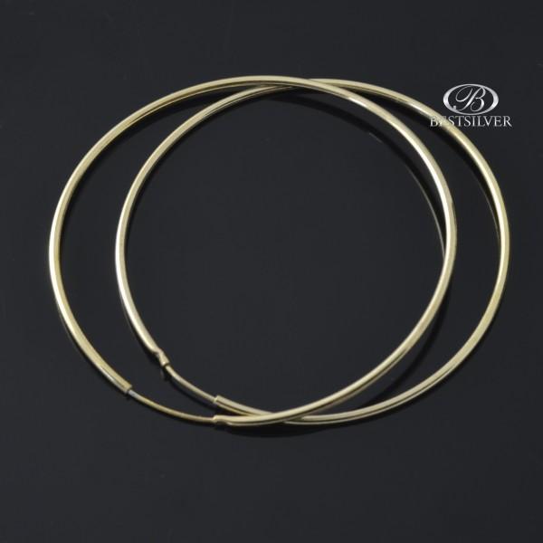 Kolczyki Srebrne koła 4,5cm złocone srebro 925