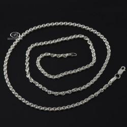 Łańcuszek srebrny męski 55cm solidny AGO 925