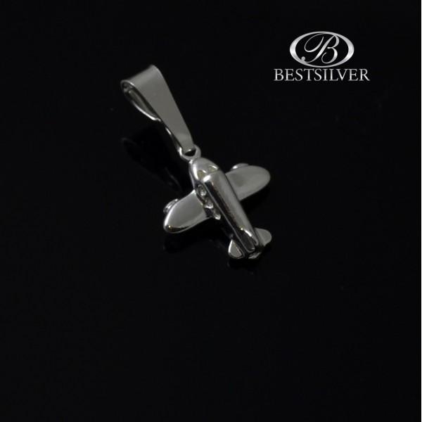 Zawieszka ze srebra Samolot srebro 925