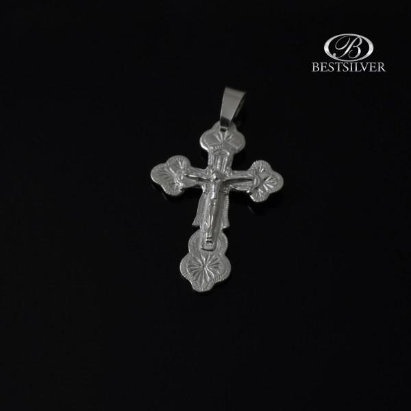 Krzyżyk srebrny z Panem Jezusem Srebro 925 kr185