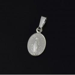 Medalik srebrny Owalny z matką boską Srebro 925